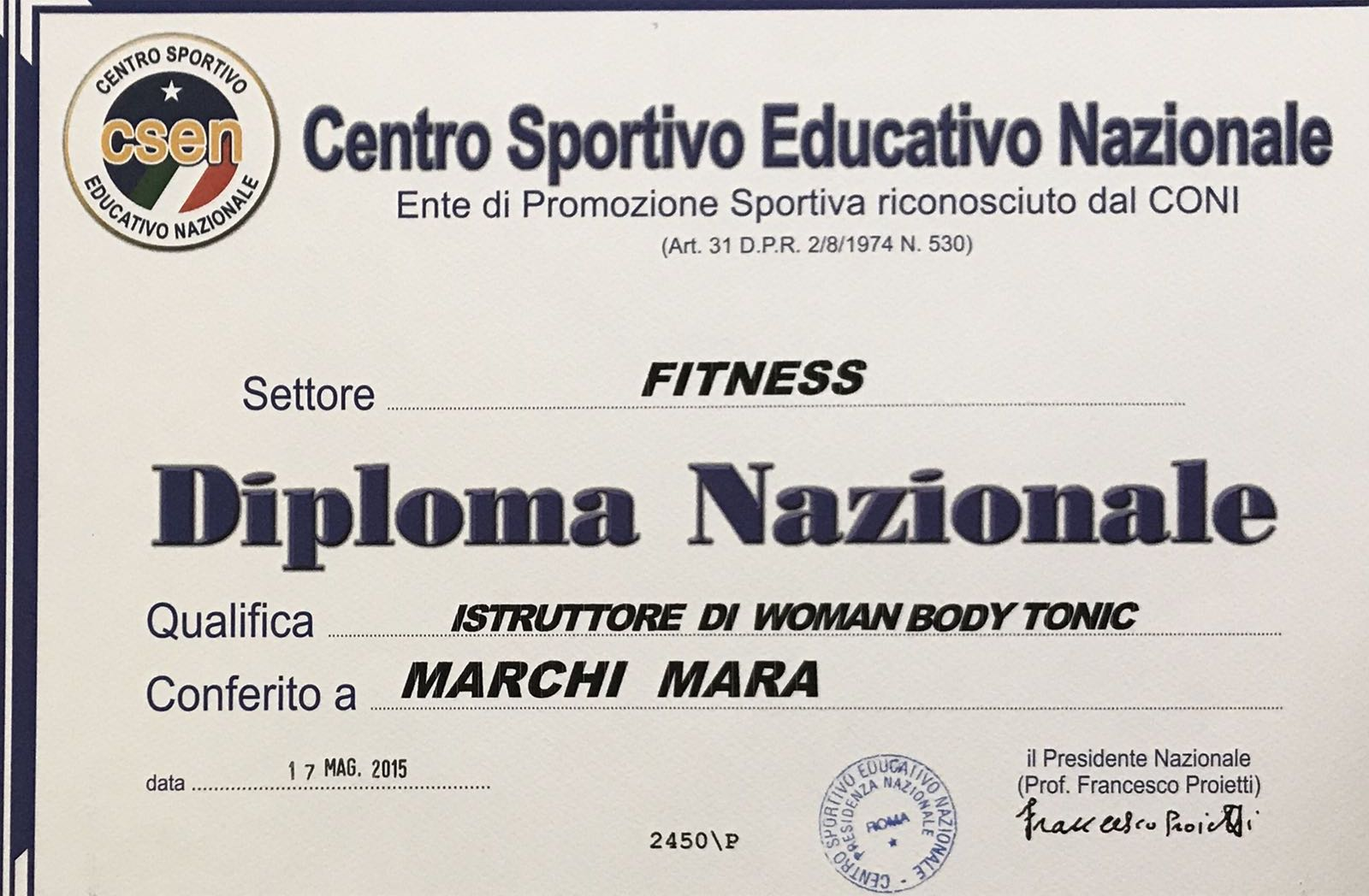 Istruttore di woman body tonic