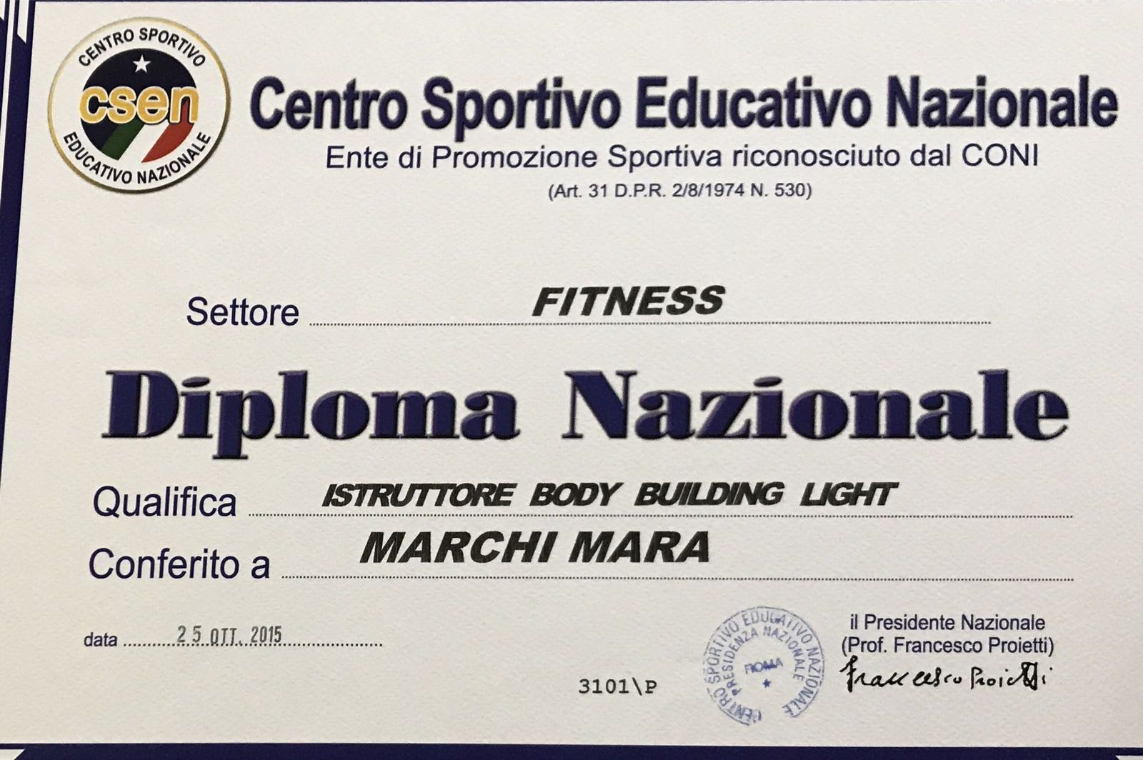 Istruttore body building light